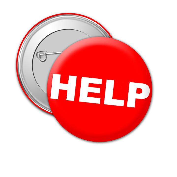 Free Illustration  Help  Badge  Metal  Pin  Lapel - Free Image On Pixabay