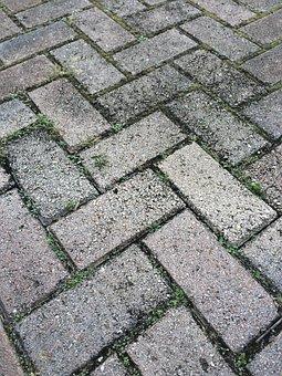 Driveway, Brick, Pattern, Sidewalk