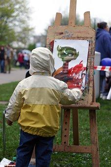 Artysta, Malarz, Chłopiec, Rysunek