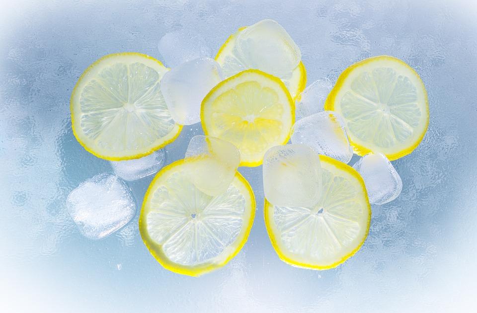 Free photo: Lemons, Ice, Water, Summer
