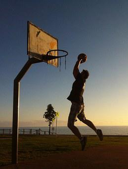 Basketball, Sport, Jumping, Hoop, Court