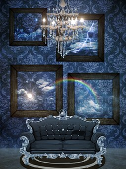 Wallpaper Sofa Carpet Space Chandelier Ant