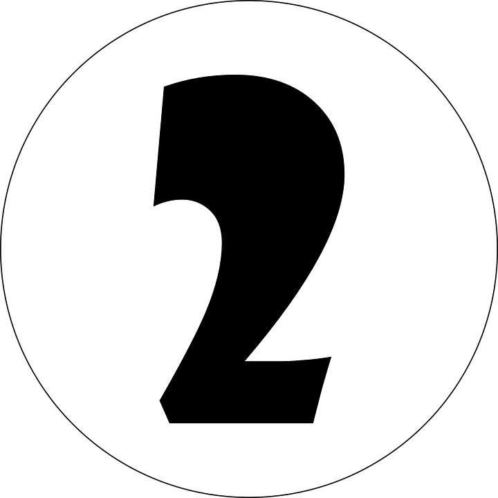 Free Vector Graphic: Two, 2, Number, Numeral, Typography