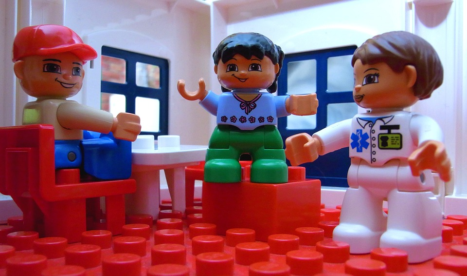Lego, Makro, Mężczyźni, Legomaennchen, Ścieśniać, Duplo