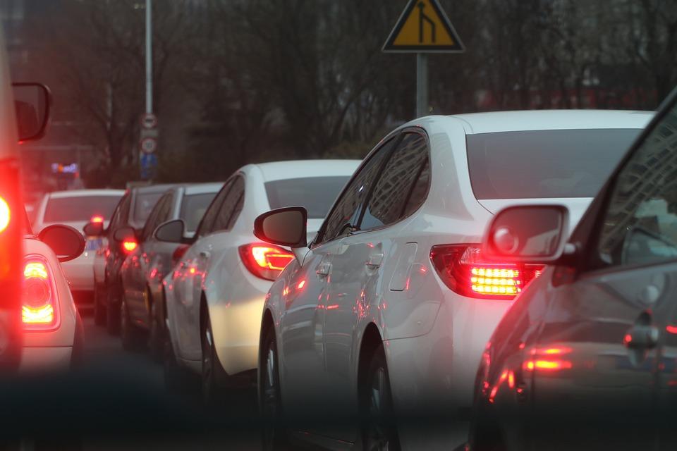 Dopravná Zápcha, Auto, Riadok