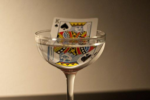King, Playing Card, Glass, Casino, Cards