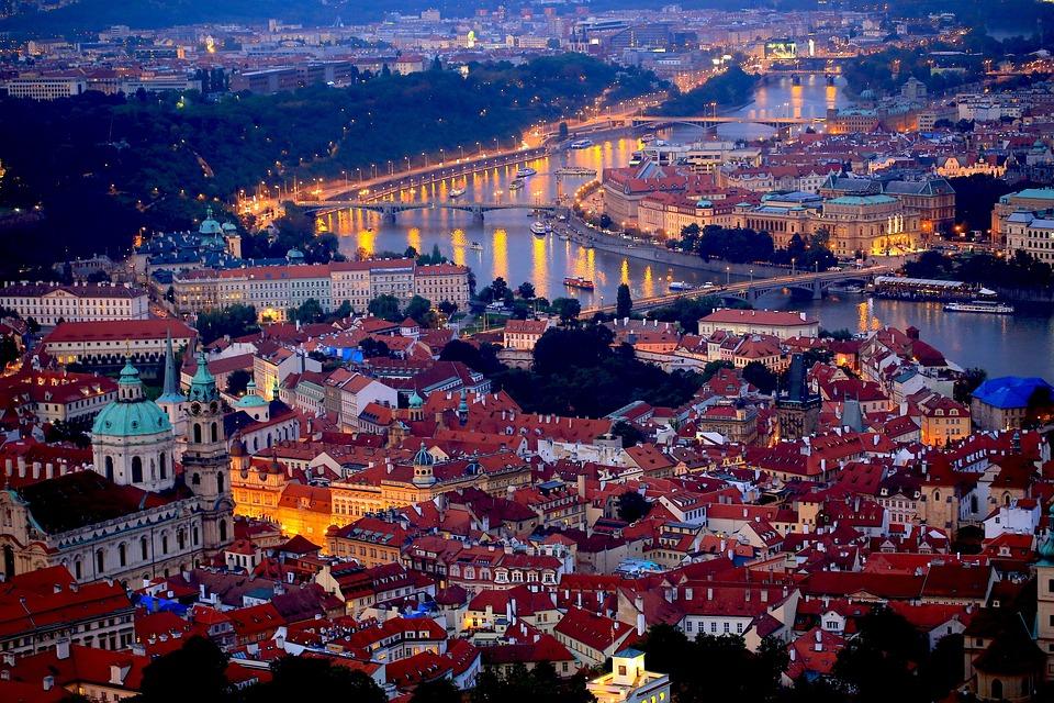 Praha Malam, Ceko, Eropa Tengah