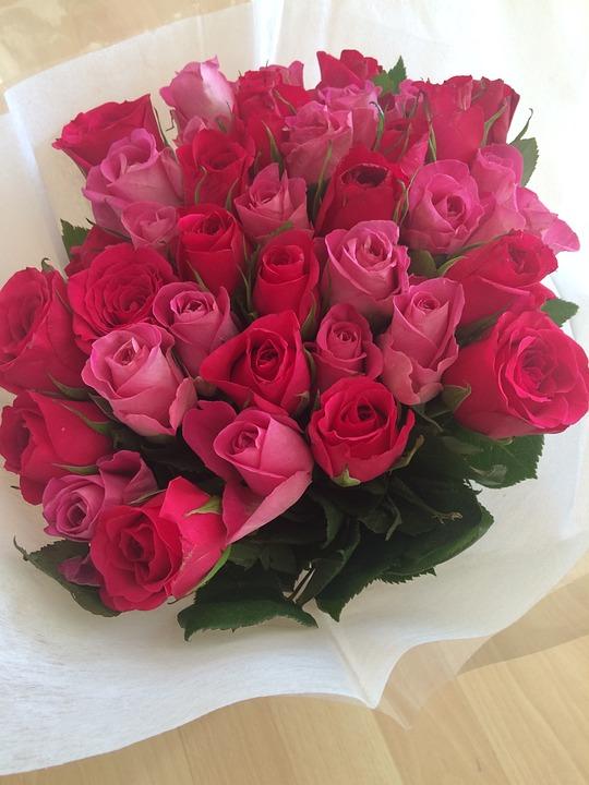 Rose Buket Bunga Foto Gratis Di Pixabay