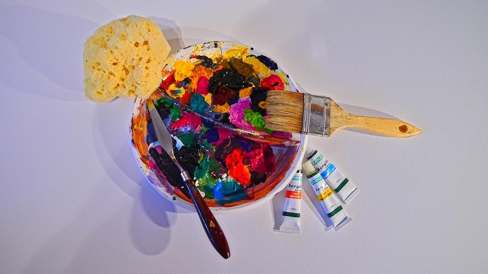 Pintar con esponjas