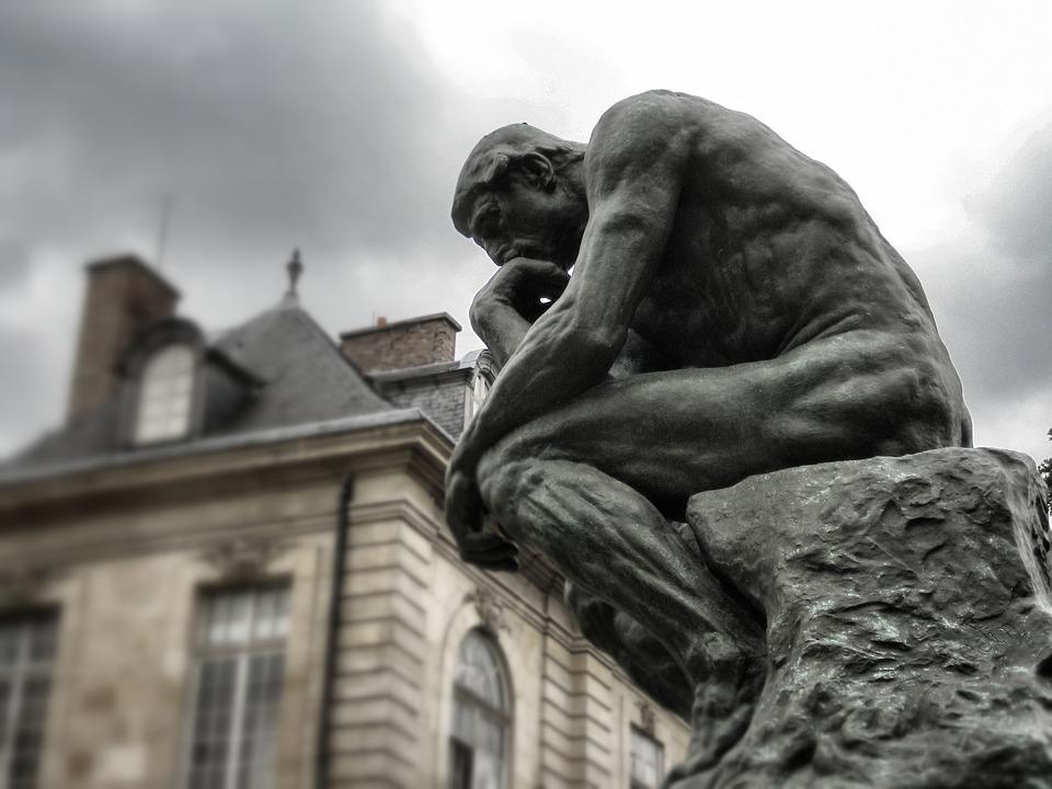 思想家, ロダン, パリ, 彫刻, 博物館, 青銅, フランス, 像