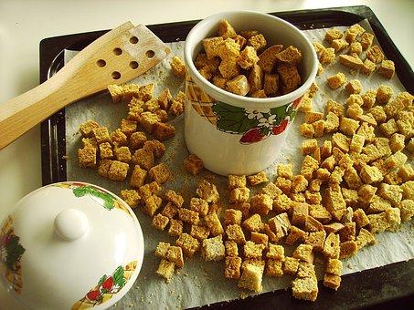 Food, Crouton, Healthy, Tasty, Homemade