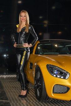 Mercedes, Mercedes-Amg Gt, Girl, Lady