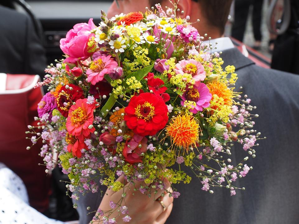 Hochzeitsstrauss Brautstrauss Strauss Kostenloses Foto Auf Pixabay