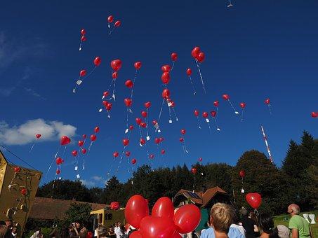 風船, 飛ぶ, 結婚式, お祝いの言葉, 祝い, 上昇, アップグレード