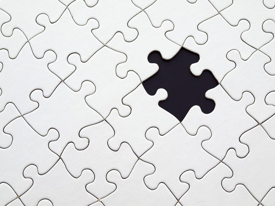 Puzzle, Partita, Accordarsi, Mancante, Buco, Vuoto