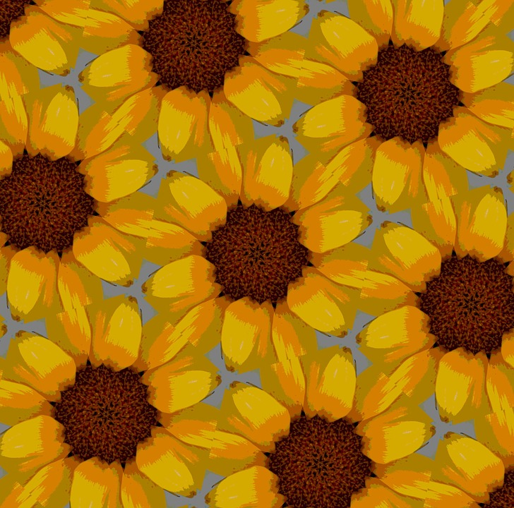 Sunflower Background Paper Abstract