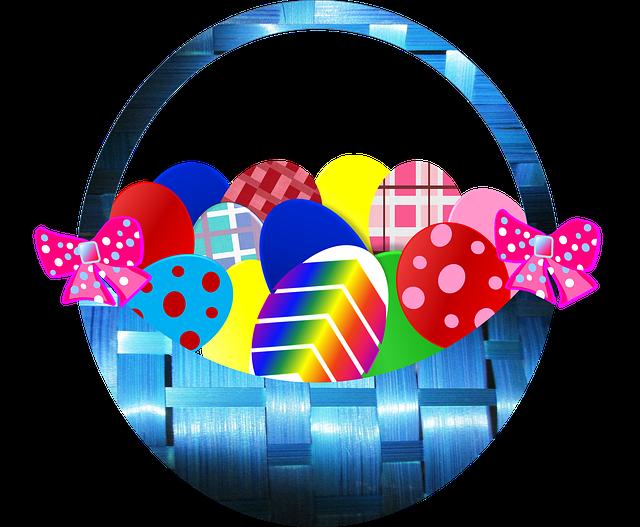Free illustration: Easter, Basket, Eggs, Decorative - Free ...