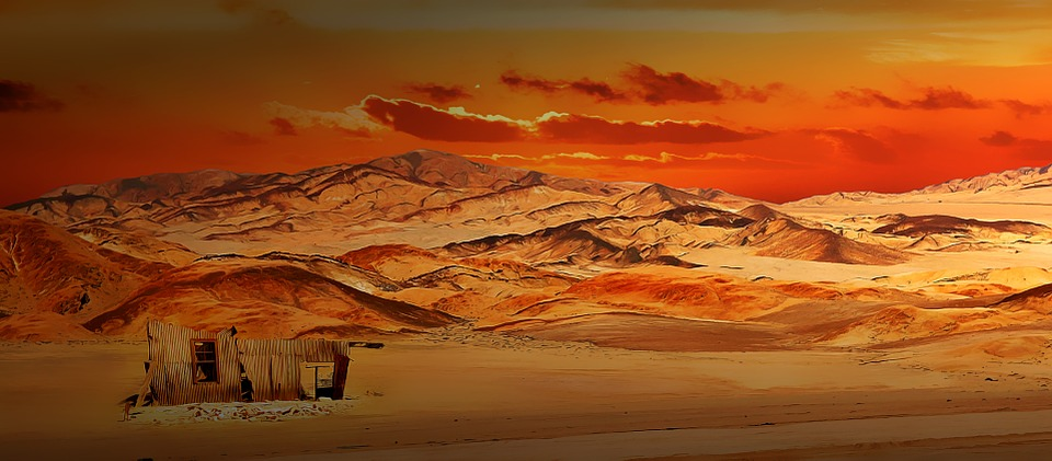 Landscape, Chile, Mountains, Hill, Sand, House, Lapsed