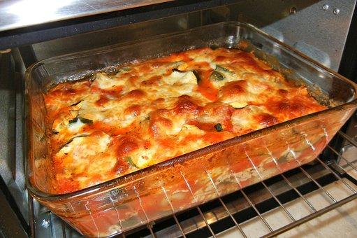 Gnocchi, Baked, Cheese, Zucchini