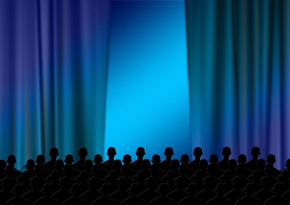 사람, 남자, 극장, 커튼, 무대, 사람의, 실루엣, 광고, 시네마, 그림자, 사람들