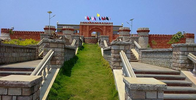 Fort, Wall, Entrance, Gate, Memorial
