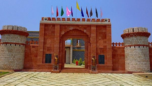 Fort, Wall, Gate, Entrance, Memorial