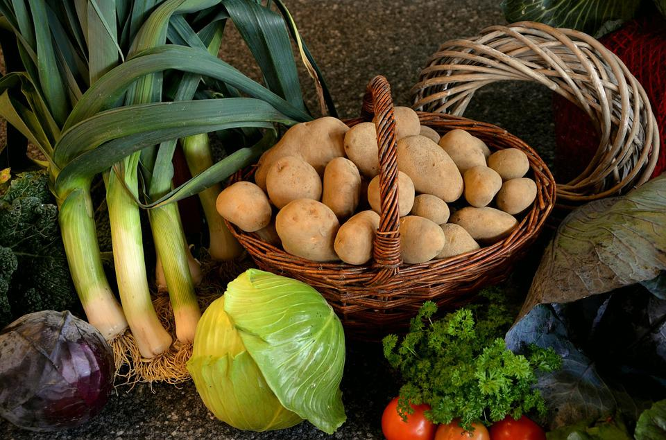 Thanksgiving, Vegetables, Harvest, Potatoes, Food