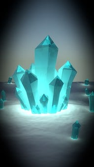 Ice Crystal, Crystal, Fantasy, Magic