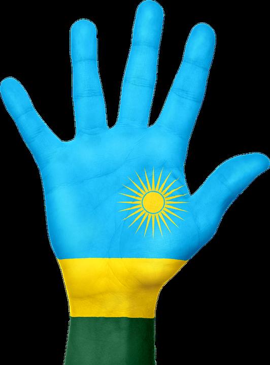 Free Illustration Rwanda Flag Hand National Free Image On - Rwanda flag