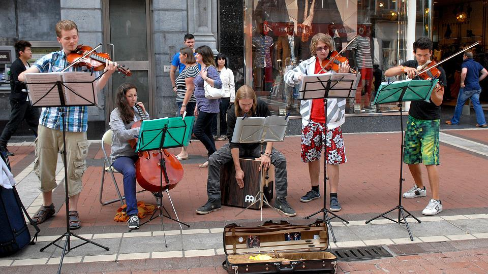 Ireland, Street Music, Dublin