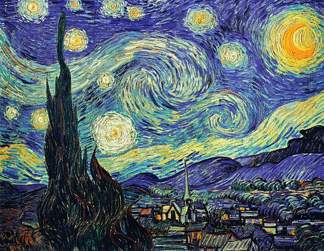 Van Gogh Starry Sky Oil Painting · Free photo on Pixabay