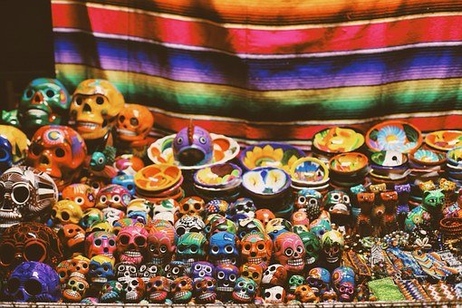 Skulls, Art, Market, Day Of The Dead
