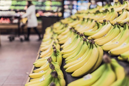 Bananas, Fruits, Food, Grocery Store