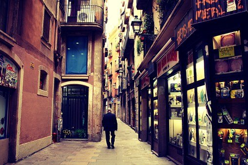 Street, Stores, Shops, Buildings