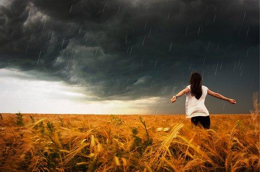 Καταιγίδα, Î'Ïέχει, Î'Ïοχή, Σταγόνες