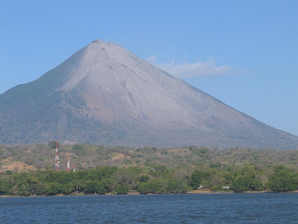 Vue Sur Le Volcan, L'Île D'Ometepe, Rivas, Nicaragua