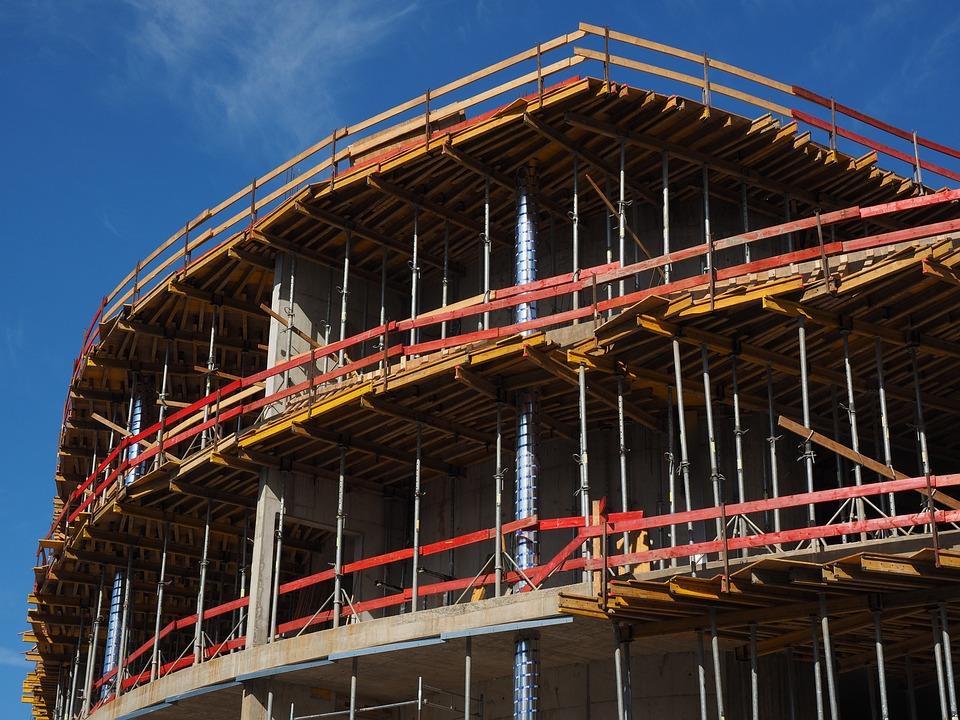 Haus bauen baustelle  Kostenloses Foto: Rohbau, Haus, Gerüst, Bauen - Kostenloses Bild ...