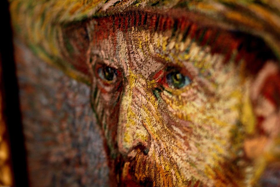 Van Gogh, Peinture, Yeux, Van, Gogh, Peintre, Artiste