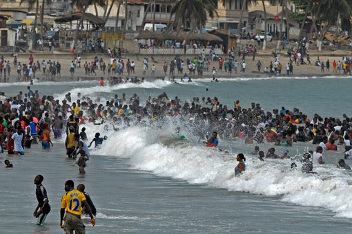 Ghana Easter Beach Swim Fun Bathing Ghana