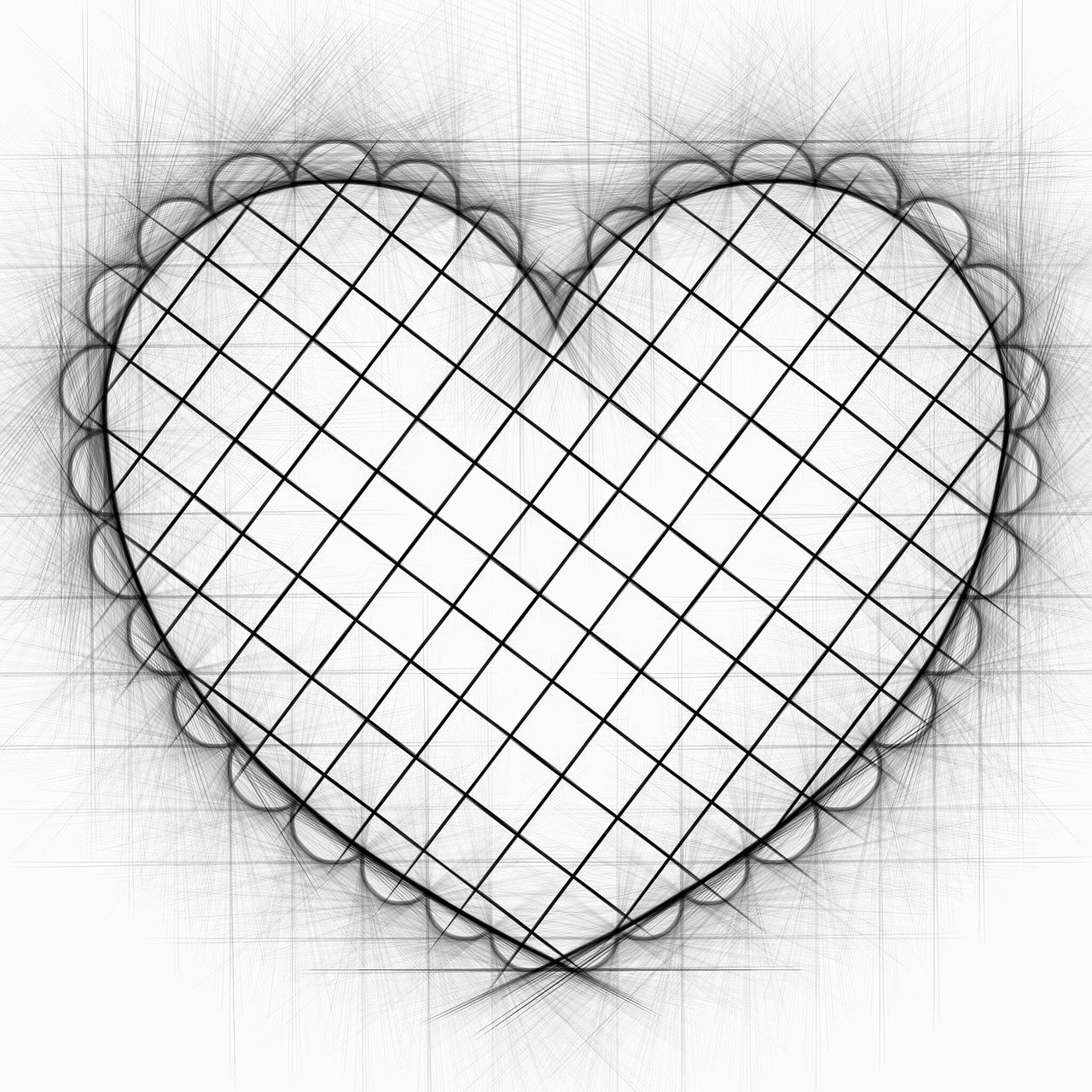 Красивые сердечки картинки нарисованные карандашом