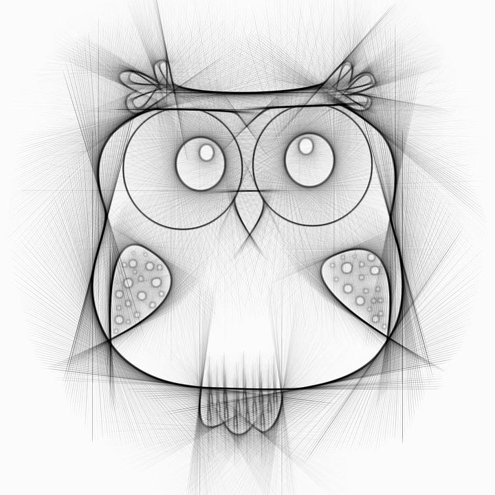 Sowa Ptak Rysunek Darmowy Obraz Na Pixabay
