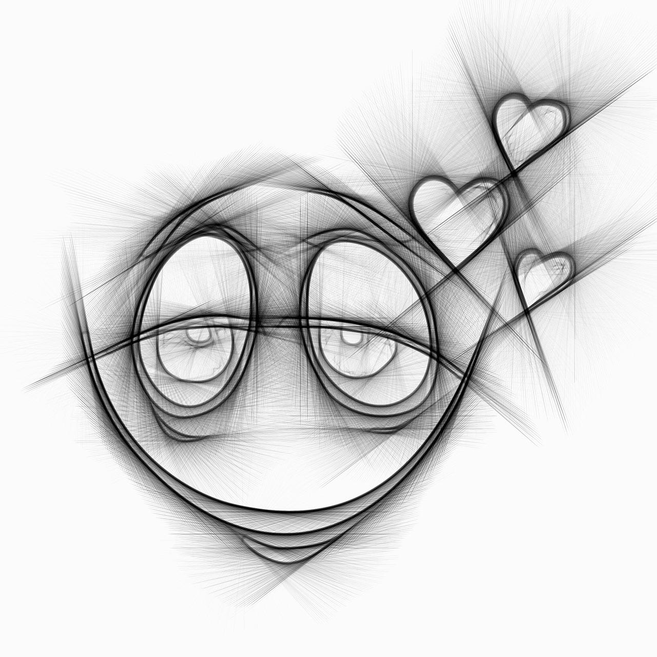 Смешные рожицы нарисованные карандашом картинки