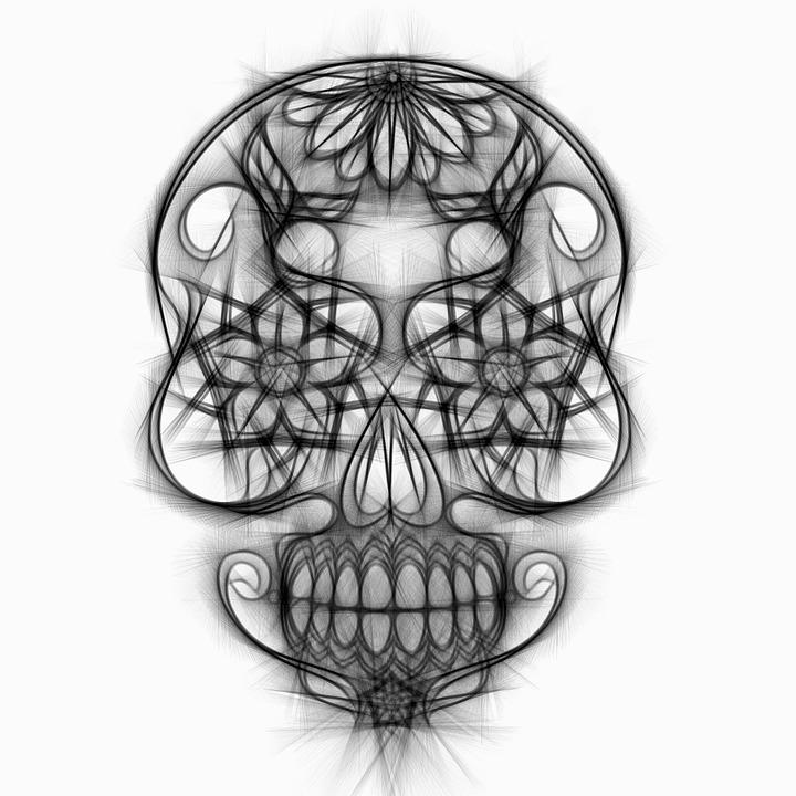 Totenkopf Zeichnung Bleistift Kostenloses Bild Auf Pixabay