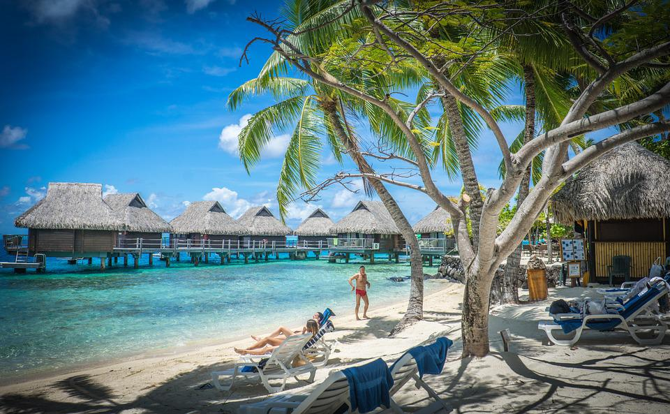 Hd Tropical Island Beach Paradise Wallpapers And Backgrounds: Free Photo: Bora-Bora, Over Water Bungalows