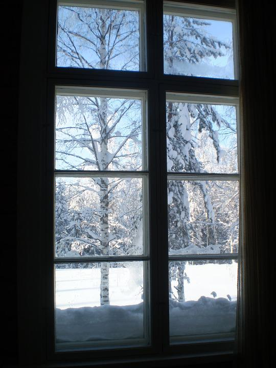 Free photo winter window view snow cold free image for Windows for cold climates