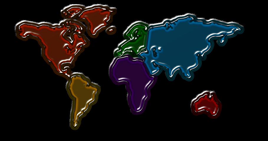 Картинки континенты мира