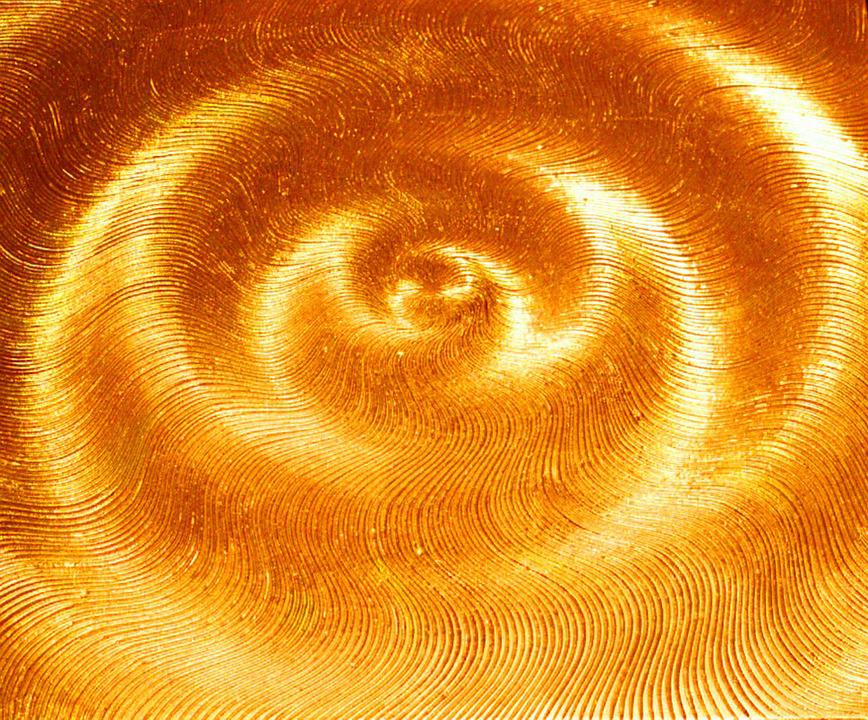 symbol light gold rays wave sound spiral sun