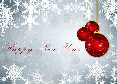 greeting card new year background new