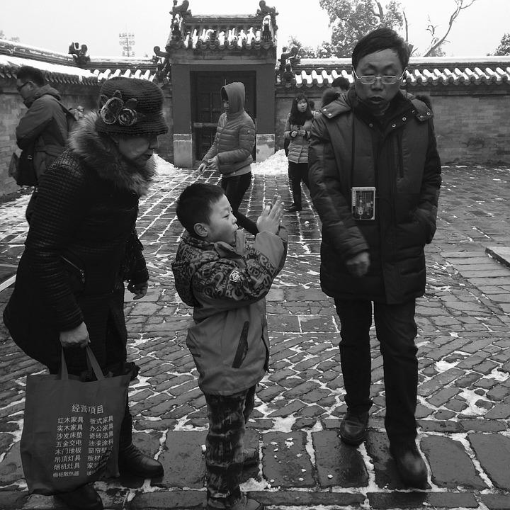 De Tempel Van De Hemel, Sneeuw, Gebouw, Chinese Stijl