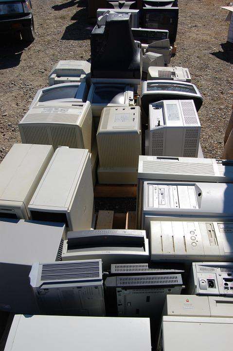 E-Waste, Computers, Electronics, Technology, Obsolete